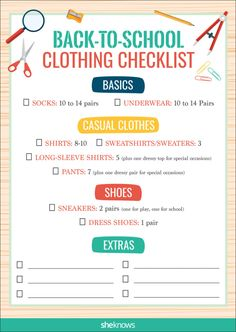 Back-to-school shopping can be a fun bonding activity or completely overwhelming.We've put together a back-to-school checklist o make your shopping trip that much easier. and it's printable! #backtoschool