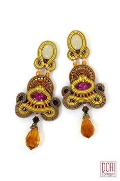 june659, yellow earrings,