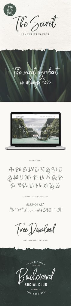 Vlad Cristea designed The Secret – Free Handwritten Font – and he is making it available for free for the Graphic Delivery community!! The Secret...