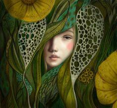 """Thumbelina"" / Hans Christian Andersen by Inna Kapustenko , via Behance"