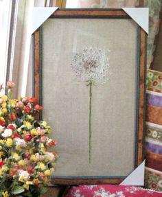 DMC-Counted-Cross-Stitch-Kit-Dandelion-Pattern-Floral-Pattern-Pissenlit