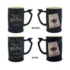 Man I should have bought this one when I went! Marauder's Map mug with heat activated footprints!