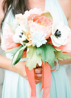 15 cool ways to rock paper flowers at your wedding 11 paper 15 cool ways to rock paper flowers at your wedding flower bouquets mightylinksfo Gallery