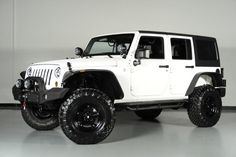2013 White & Black Jeep Wrangler
