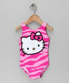 Take a look at this Pink Hello Kitty Sublimation One-Piece - Infant, Toddler & Girls by Hello Kitty on #zulily today!