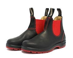 8fca69d36bb BLUNDSTONE PULL ON BOOT WOMEN BLACK RED STYLE 1316