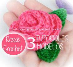 Aprender a tejer rosas al crochet videos