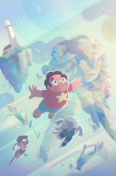 """IT TAKES A UNIVERSE"" Art: George Caltsoudas Steven Universe is my new favourite show in the whole world (other than Mad Men). The style of ..."