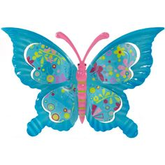 """11.5"""" Tin Butterfly Hanger: Turquoise Blue"""
