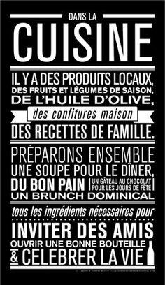 Affiche Dans La Cuisine