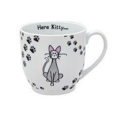 Zrike Brands Here Kitty Mug, Set of 4 -- See this awesome image  : Cat mug