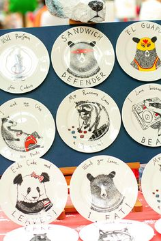 Renegade Craft Fair London, via Flickr. This is so so cute. I especially love 'Eats Cake and LEAVES'