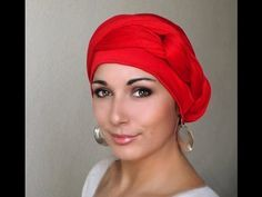 How to Tie a Turban Headwrap.  This is SO easy with our one piece turbans!