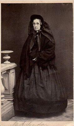 M. A. Fonda in Mourning, Albumen Carte de Visite, Circa 1863