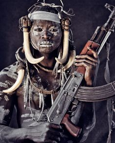 Mursi Tribe - Ethiopia by Jimmy Nelson Tribes Of The World, People Of The World, African Tribes, African Art, Jimmy Nelson, Exposition Photo, Foto Portrait, Mursi Tribe, Tribal Warrior