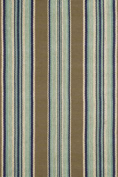 """Dash And Albert """"Blue Heron"""" Stripe Woven Cotton Rug  Downstairs Powder Room...bringing in the navy, but taking into consideration the """"green"""" tint of the vessel sink"""