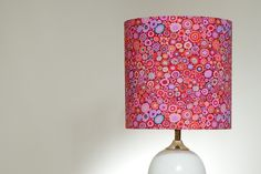 Paperweight Lampshade- Pink by Swee Mei, Kaffe Fassett fabric