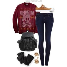 Stiles Inspired Outfit by veterization on Polyvore featuring moda, Goldsign and Converse