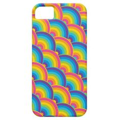 Colorful Repeating Rainbow Pattern Gifts iPhone 5 Cases