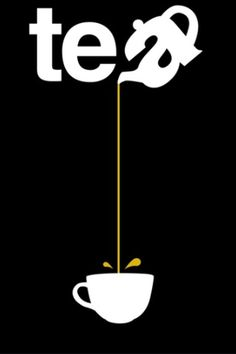 Tea - Pouring from such a great height is only for the most reckless of tea drinkers. Or for those with plastic topped table cloths. So la da di da di we like to tea party ��☕� Graphisches Design, Logo Design, Design Ideas, Typographie Logo, Logos, Plakat Design, Tea Quotes, Tea Lover Quotes, Poster S