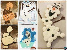 DIY Frozen Pull Apart Olaf Cupcake Cake