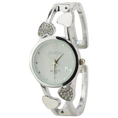 ELEOPTION Fashion Classic Women Quartz Stainless Steel Analog Wrist Watch Bracelet For Girls Female With Elegant Womens Watch Box LovingWhite *** Find out more about the great product at the image link.Note:It is affiliate link to Amazon.