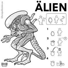 Ed Harrington - Pop Culture Ikea Alien