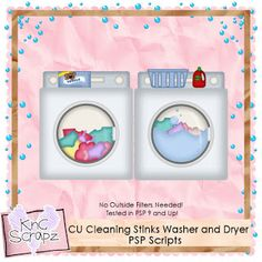 KnC Scrapz: CU Cleaning Stinks Washer and Dryer PSP Scripts