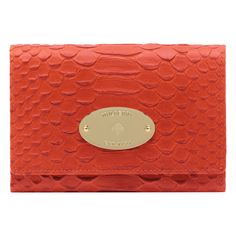Mulberry - French Purse in Flame Silky Snake Print