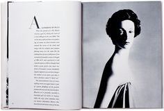 Spread from Avedon's Observations (1959). Designed by Alexey Brodovitch