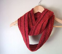 Valentine Gift / Red Eternity Scarf / Red Infinity by DottieQ, $33.00