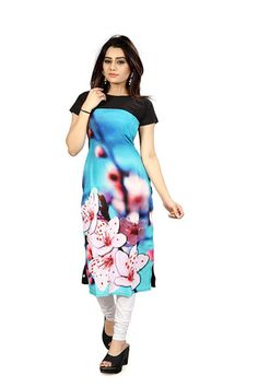 4f94d8173 10 Best Kurtis images in 2018 | Printed kurti, Black kurti, Designer ...