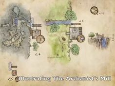 A free map of a wizard& tower, with a secret cave complex hidden behind a waterfall, along with a description of how it was designed and illustrated. Fantasy Map, Fantasy World, Dungeons And Dragons, Cartographers Guild, Pen & Paper, Rpg Map, Map Maker, Medieval, Free Maps
