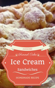 Brandi Milloy shared a sweet treat that no one will soon forget. From Today Show, get her homemade recipe for Funnel Cake Ice Cream Sandwiches. Ice Cream Desserts, Frozen Desserts, Ice Cream Recipes, Frozen Treats, Fun Desserts, Delicious Desserts, Best Dessert Recipe Ever, Best Dessert Recipes, Sweet Recipes