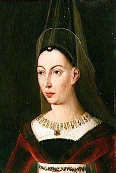 Isabella of Bourbon, Countess of Charolais was the second wife of Charles the Bold and mother of Mary of Burgundy Medieval Clothing, Historical Clothing, Catherine Of Valois, Bourbon, 15th Century Fashion, 16th Century, Moda Medieval, 7 Arts, French Royalty