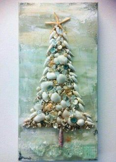 """and then you will get this image about Cheap And Easy DIY Coastal Christmas Decorations Ideas You can also find another pics by click """"Next image"""" or """"Previous image"""" button. ^^ CLIK PIN FOR MORE INFO ^^ Seashell Crafts Christmas Mix, Beach Christmas, Christmas Projects, All Things Christmas, Holiday Crafts, Christmas Holidays, Xmas, Holiday Beach, Nautical Christmas"""