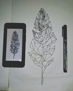 #artdesign #sketch #geometric #feather