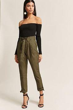Self-Tie Paperbag Waist Trousers