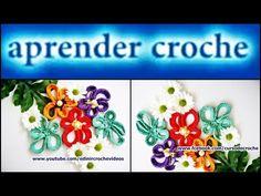 FLORES EM CROCHE FLOR AMOR PERFEITO MODELO DOIS - 039 - YouTube