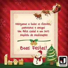 A JTavares deseja a todos os clientes, parceiros e amigos um Feliz Natal e um 2017 repleto de realizações. BOAS FESTAS!  #BoasFestas #FelizNatal #Natal #FelizAnoNovo #AnoNovo #Feliz2017 #2017