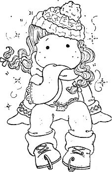 Coloring Page Christmas Tilda's Colouring Pics, Adult Coloring Pages, Coloring Sheets, Coloring Books, Copics, Christmas Colors, Digital Stamps, Colorful Pictures, Magnolias