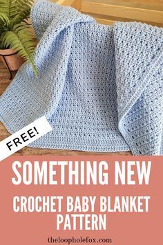 Crochet Baby Blanket Free Pattern, Baby Afghan Crochet, Crochet Stitches Patterns, Easy Crochet Baby Blankets, Baby Afghan Patterns, Easy Baby Blanket, Blue Blanket, Double Crochet Baby Blanket, Baby Knitting