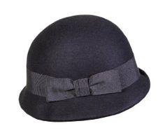"""DA*VI*DE """"Aurora"""" Schicker Damenhut im 20er - Jahre Stil aus Wollfilz. Mit modischen Hutband. Farbe Schwarz Da*Vi*De, 48,00 EUR"""