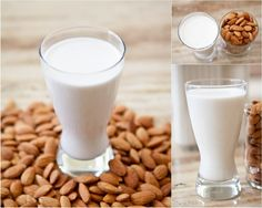 Almond milk is one of my favorite drinks. But almond milk packaged and sold in the stores is not fresh or healthy. Almond milk is so simple to make a home! Make Almond Milk, Almond Milk Recipes, Almond Pulp, Cashew Milk, Soaked Almonds, Raw Almonds, Ground Almonds, Almond Milk Health Benefits, Sans Gluten Thermomix