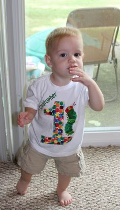 The Very Hungry Caterpillar birthday shirt and other decoration ideas!