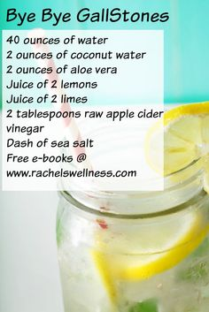 It is not uncommon for people to have gallstones. I suffered with them for the longest time and they were hampering my digestion and robbing me blind of my energy. I started to hydrate, add malic acid (found in raw apple cider vinegar) and foods that enhanced lived function like lemon and lime in my drinks. This is my home run drink. If you love this, then hop on to my site at www.rachelswellness.com and grab all my free e-books.        @rachelnutrition