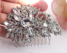 Wedding hair comb Crystal hair comb bridal by nefertitijewelry2009, $34.00