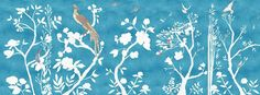 Casart coverings_Chinoiserie Murals desaturated-asia blue Combo_temporary wallpaper