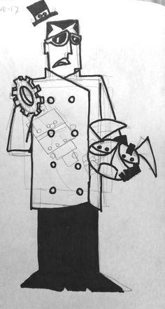 El profesor Utonio fracasa en su intento por crear a la niñita perfecta (circa 1898)
