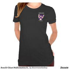 Arnold-Chiari Malformation Awareness Ribbon Purple Angel Art Custom Shirts